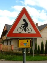 vienna-prague greenways sign; cycling; bike touring; czech republic