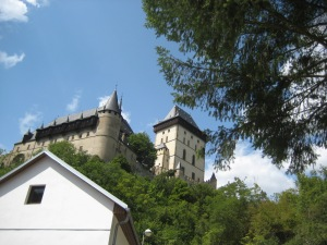 Karlstejn Castle; bike touring czech republic; prague