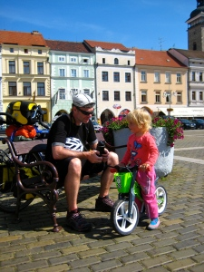little cyclist; ceske budejovice; bike touring; summer 2012