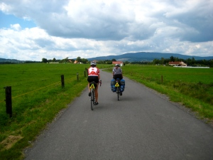 Sharing the road with other cyclists; canadian bike tourists; cycling; bike touring; czech republic; vienna-prague greenway