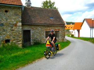 Cycling through beautiful Czech Villages; veinna-prague greenway; bike touring; cycling;