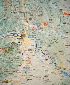 bike map; maribor, slovenia; bicycle tourism; two wheel travel; cycle touring