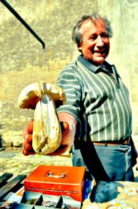 mushroom-vendor 7 surprising things about bicycle touring Eastern Europe