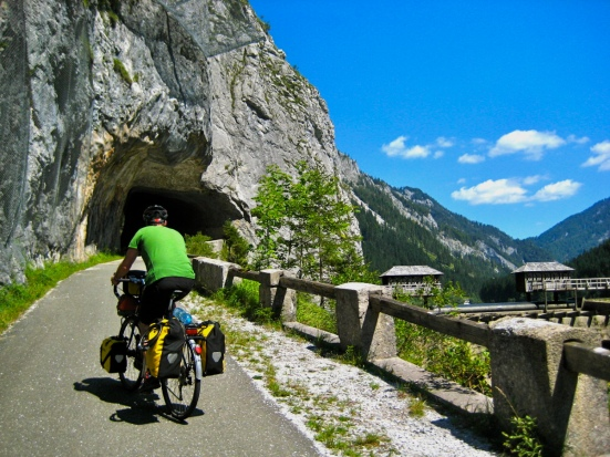 bicycle touring steiermark austria; cycling the salzatalradweg; Bicycle tunnel