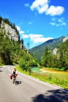 Bicycle touring the Salzatalradweg; Steiermark Austria