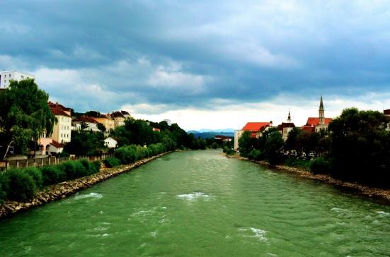 Enns River; Ennsradweg; Steyr Austria