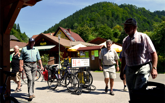 Not your typical cyclists; bicycle travel austria R2; two wheel travel