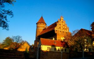 Olsztyn Castle in the morning sun