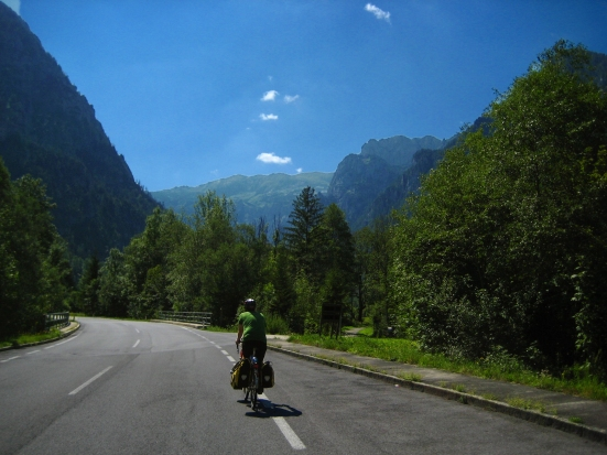 bicycle travel in steiermark austria along the salzatalradweg; bike touring in the alps