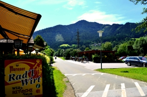 Wirtshaus Ritschi is a great stop for bicycle travellers; two wheel travel