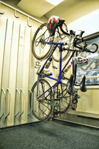 bikes on a train; bike travel; multi-modal bicycle tour; Deutsche Bahn Farrhad