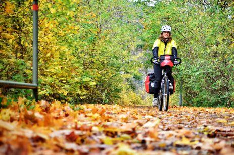 Autumn bike touring; czech republic, Decin, elberadweg; cycling in europe, bicycle travel