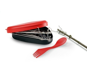 Grandpa's Firegrill camp cooking kit for bicycle touring; Two Wheel Travel gift guide 2012