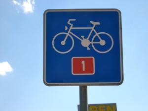 Bike sign in Slovenia