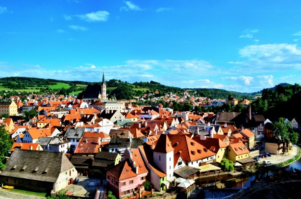 cesky krumlov czech republic on our bicycle tour from prague to dubrovnic