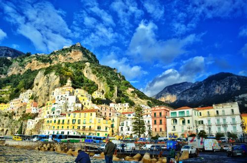 Amalfi Itlay; Two Wheel Travel - Southern Italy Winter Bicycle tour.