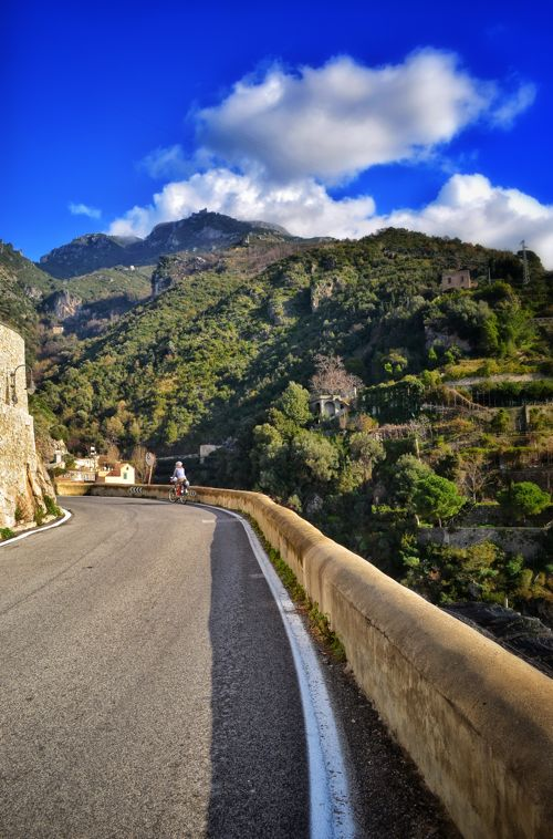 Bicycle touring the Amalfi Coast; Two Wheel Travel  - Southern Italy Winter Bicycle tour.
