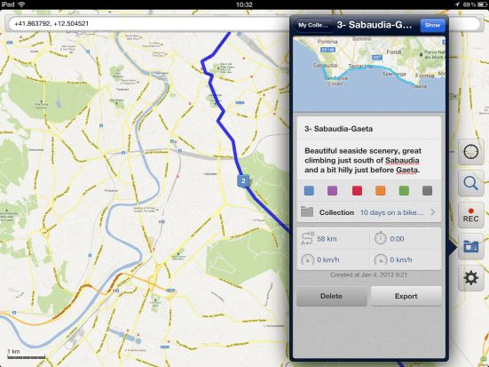 Galileo Offline Maps for bicycle touring